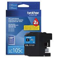 CARTUCHO DE TINTA  BROTHER LC105C CYAN PARA IMPRESIN DE HASTA 1200 PAGINAS
