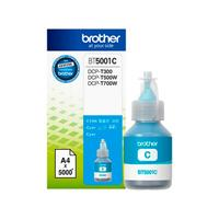 BOTELLA DE TINTA BROTHER CYAN BT5001C DE ALTO RENDIMIENTO DE HASTA 5000 PGINAS COMPATIBLE CON TINTA CONTINUA BROTHER